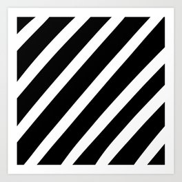 Black'n'White Stripes Art Print