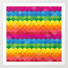 Waves of Rainbows Art Print