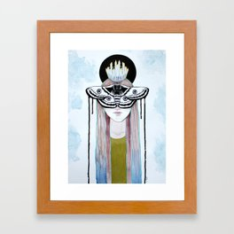 moth queen Framed Art Print
