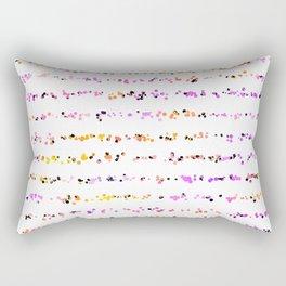 Paint Splatter Lines in Sunset Rectangular Pillow