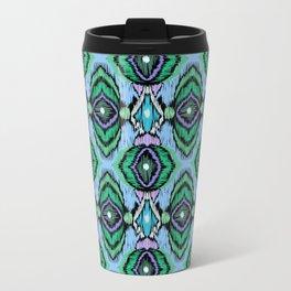 Ethnic blue green ornament 3 Travel Mug