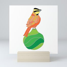 Comemaiz on a pear Mini Art Print