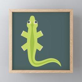 Letter L // Animal Alphabet // Lizard Monogram Framed Mini Art Print