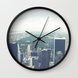 A Building with a View Wall Clock