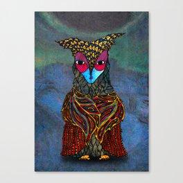 Owl-Girl Canvas Print