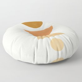 Abstraction_Geometric_Shape_Moon_Sun_Minimalism_001D Floor Pillow