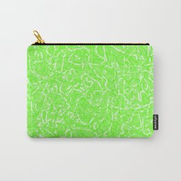 Chaotic white tangled ropes and green pastel lines. Carry-All Pouch