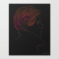 bowie Canvas Prints featuring Bowie by Bruno Gabrielli