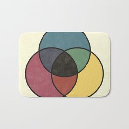 Matthew Luckiesh: The Subtractive Method of Mixing Colors (1921), vintage re-make Bath Mat