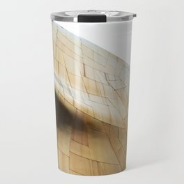 Golden abstract structure at EMP Museum Seattle Travel Mug