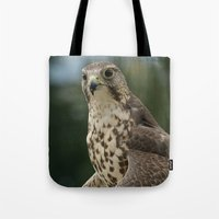 hawk Tote Bags featuring Hawk by Herzensdinge