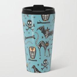 Halloween X-Ray Blue Travel Mug