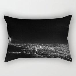 Chicago Skyline. Airplane. View From Plane. Chicago Nighttime. City Skyline. Jodilynpaintings Rectangular Pillow