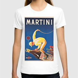 Vintage Martini and Rossi Sparkling Wine Vermouth Advertisement Poster T-shirt