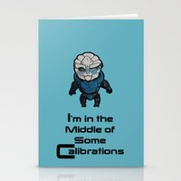 garrus Stationery Cards featuring Garrus: In the middle of some calibrations by Skart87