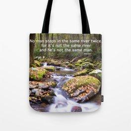 Never the same river twice Tote Bag