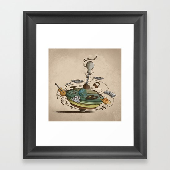 Music Spin Framed Art Print