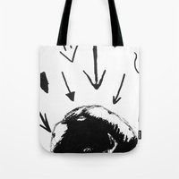 cabin pressure Tote Bags featuring Pressure by DaleyArts