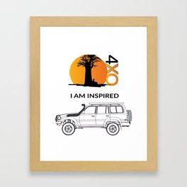 I AM INSPIRED LAND CRUISER 80 Series Framed Art Print