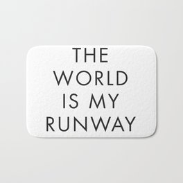 The World is my Runaway, Inspirational Quotes, Affiche Scandinave, Wall Art, Contemporary Print Bath Mat