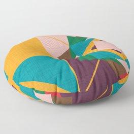 wind rose yellow Floor Pillow