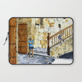 Woman Enjoying the Sun - Castillo de la Real Fuerza, Habana Vieja, Cuba Laptop Sleeve