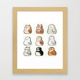 Fat Owls Framed Art Print