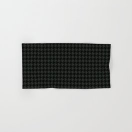 PreppyPatterns™ - Cosmopolitan Houndstooth - black and charcoal gray Hand & Bath Towel