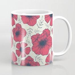 Raspberry Flowers Coffee Mug