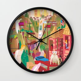Playboys and Geishas in Old Los Angeles Wall Clock