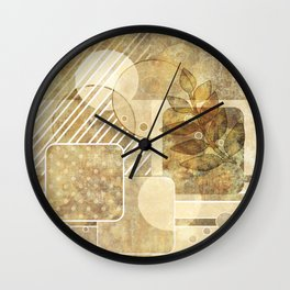 The old map . Grunge . Retro . Vintage . Wall Clock