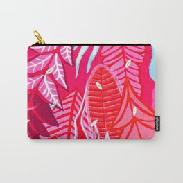 Pink Plants Carry-All Pouch