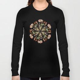 Flemish Floral Mandala 3 Long Sleeve T-shirt