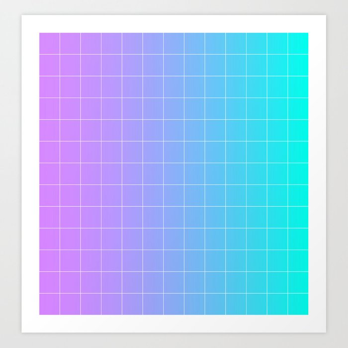 Vaporwave Gradient Art Print By Timkran Society6