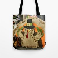 turkey Tote Bags featuring Turkey Time by IowaShots