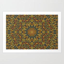 Unique kaleidoscope design Art Print