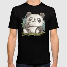 Panda Mens Fitted Tee SMALL Black