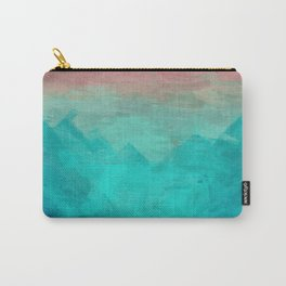 Sunset Over Lagoon Abstract Painting Carry-All Pouch