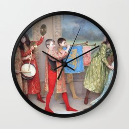 Thomas Cooper Gotch - A Pageant of Childhood - Digital Remastered Edition Wall Clock