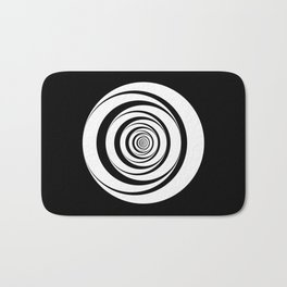 Black White Circles Optical Illusion Bath Mat