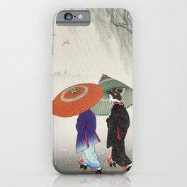 Rainy Day Geisha iPhone Case
