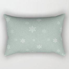 Snow Flakes pattern Green #homedecor #nurserydecor Rectangular Pillow