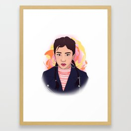 Jisoo from Blackpink Framed Art Print