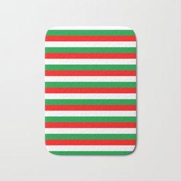 italy hungary bulgaria iran mexico Madagascar flag stripes Bath Mat