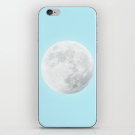 WHITE MOON + BLUE SKY iPhone Skin