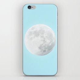 WHITE MOON + BLUE SKY iPhone Skin