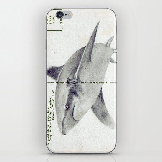 Postcard Shark iPhone & iPod Skin