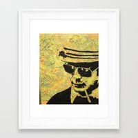 hunter s thompson Framed Art Prints featuring hunter s thompson by Leemarie