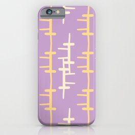 Doodle Crosshatching Pattern iPhone Case