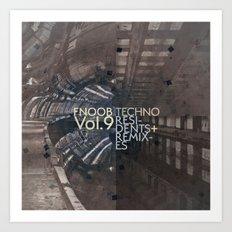 FNOOB Techno Vol. 9 album art Art Print